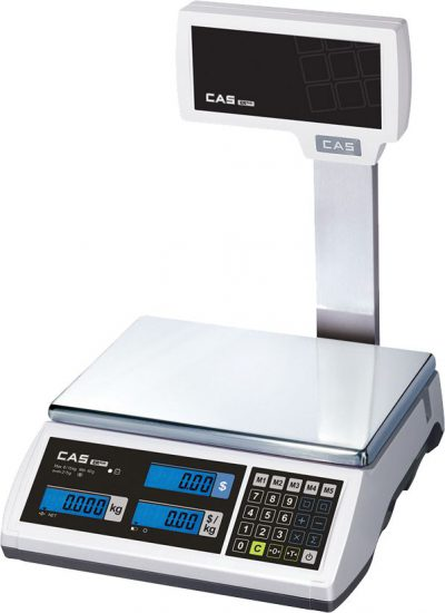 Cas Er-15 Plus 15kg Scale W/Pole