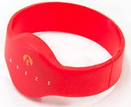Axeze Wristband Lge Red Silico
